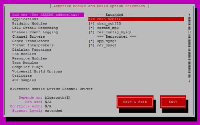 make menuselect format_mp3